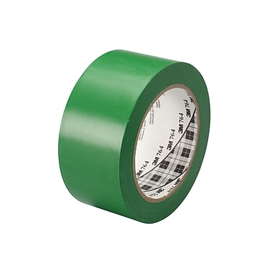 3M™ 2in. x 36 yds. General Purpose Solid Vinyl Safety Tape 764, Green, 6/Pack