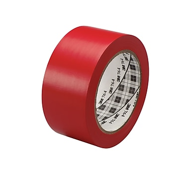 3M™ 2in. x 36 yds. General Purpose Solid Vinyl Safety Tape 764, Red, 6/Pack