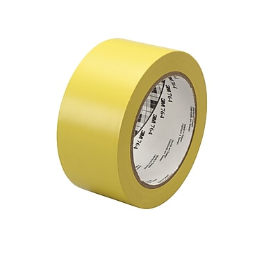 3M™ 2in. x 36 yds. General Purpose Solid Vinyl Safety Tape 764, Yellow, 6/Pack