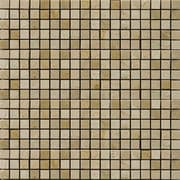 Emser Tile Natural Stone 0.5'' x 0.5'' Marble Mosaic Tile in Crema Marfil