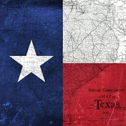 iCanvas Flags Texas Map w/ Lomo Film Grunge Graphic Art on Wrapped Canvas; 26'' H x 26'' W x 1.5'' D