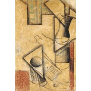 iCanvas 'Still Life, 1911' by Juan Gris Painting Print on Wrapped Canvas; 40'' H x 26'' W x 1.5'' D