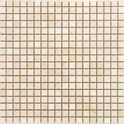 Epoch 0.63'' x 0.63'' Marble Mosaic Tile in Crema Cappuccino