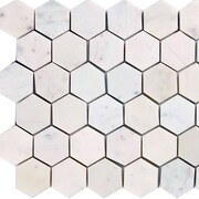 Epoch Hexagon 2'' x 2'' Marble Mosaic Tile in Italian Venatino