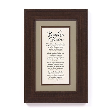 The James Lawrence Company Broken Chain by Ron Trammer Framed Textual Art