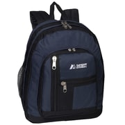 Everest Double Compartment Backpack; Navy