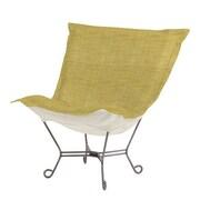 Howard Elliott Puff Scroll Coco Lounge Chair; Peridot