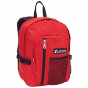 Everest Front Mesh Pocket Backpack; Red