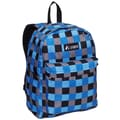 Everest Printed Pattern Backpack; Blue Bold Plaid