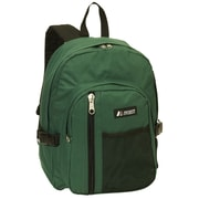 Everest Front Mesh Pocket Backpack; Green