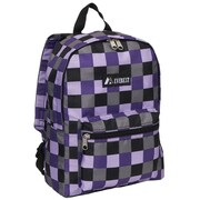 Everest Basic Backpack; Purple Bold Plaid