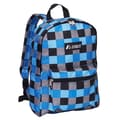 Everest Basic Backpack; Blue Bold Plaid