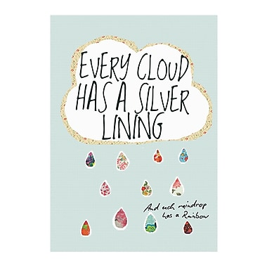 Evive Designs Every Cloud Has a Silver Lining by Stephanie Bertenshaw Graphic Art