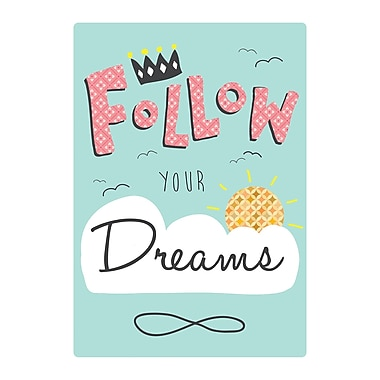 Evive Designs Follow Your Dreams by Felt Mountain Studios Paper Print Art
