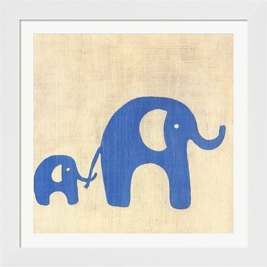 Evive Designs Best Friends Elephants Framed Art