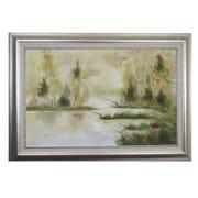 Acura Rugs RiverLake Framed Original Painting