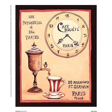Evive Designs Cafe Societe by Katharine Gracey Vintage Advertisement