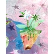 Evive Designs Modern Flower with Stars by Holly Mcgee Painting Print