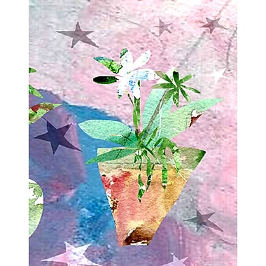 Evive Designs Modern Flower w/ Stars by Holly Mcgee Painting Print