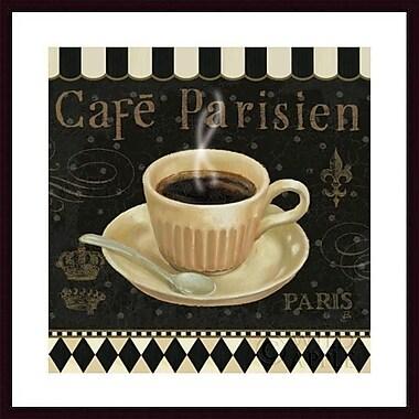 Printfinders 'Cafe Parisien I' by Daphne Brissonnet Framed Vintage Advertisement