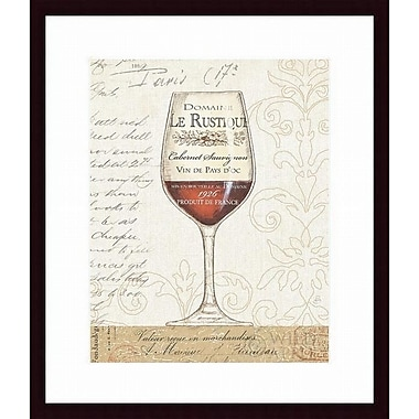 Printfinders 'Wine by the Glass I' by Daphne Brissonnet Framed Graphic Art