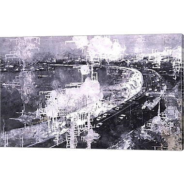 Evive Designs Symphony of the City III by Jorge Azri Graphic Art on Wrapped Canvas