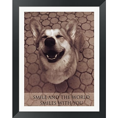Evive Designs Smile and the World Smiles w/ You by Jim Dratfield Framed Photographic Print