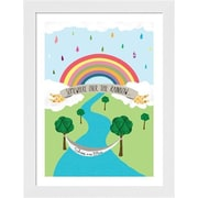 Evive Designs Somewhere over the Rainbow by Felt Mountain Studios Framed Graphic Art