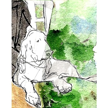 Evive Designs Hound Dog by Holly Mcgee Painting Print