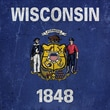 iCanvasArt Wisconsin Flag Grunge Graphic Art on Canvas; 18'' H x 18'' W x 1.5'' D