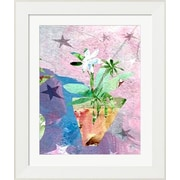 Evive Designs Modern Flower w/ Stars by Holly Mcgee Framed Painting Print