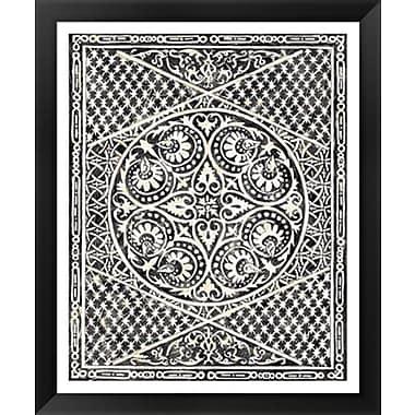 Evive Designs Woodcut in Black II by Chariklia Zarris Framed Graphic Art