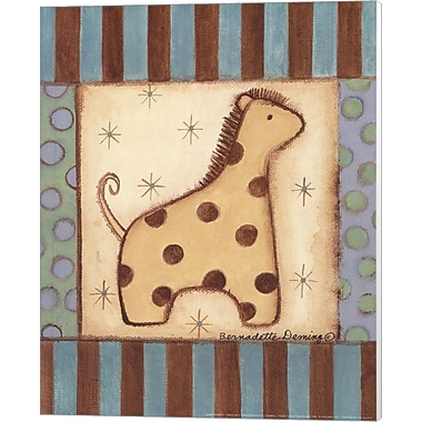 Evive Designs Baby Giraffe Canvas Art