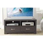 Safavieh Monroe 47'' TV Stand; Dark Grey / Charcoal / Woodgrain