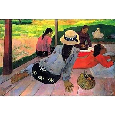 iCanvas 'The Siesta' by Paul Gauguin Painting Print on Wrapped Canvas; 8'' H x 12'' W x 0.75'' D