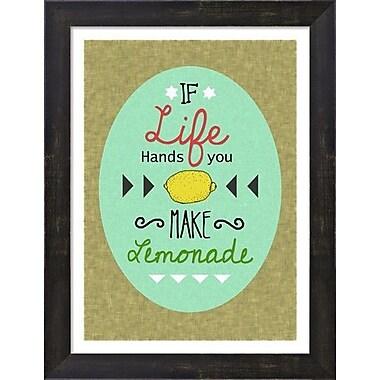 Evive Designs Lemonade by Felt Mountain Studios Framed Textual Art