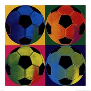 Evive Designs Ball Four Soccer Paper Print