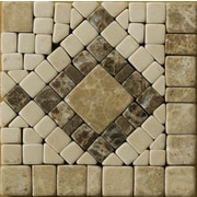 Emser Tile Natural Stone 4'' x 4'' Honed Marble Scultura Listello Corner