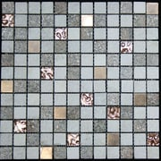 Legion Furniture Glass Metal Tile in Multi-Color