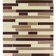 MSI Sedona Interlocking Random Sized Glass Mosaic Tile in Beige and Brown