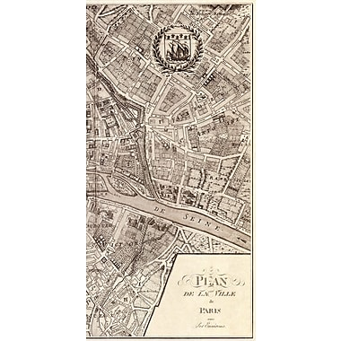 Evive Designs Plan de la Ville de Paris, 1715 by N De Fer Graphic Art