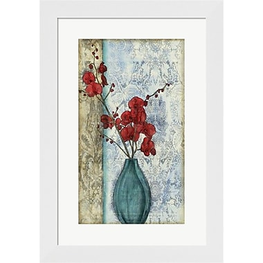 Evive Designs Small Orchid Opulence II (P) by Jennifer Goldberger Framed Graphic Art