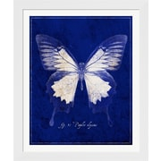 Evive Designs Blue Mountain Butterfly Cyanotype by GI ArtLab Framed Graphic Art