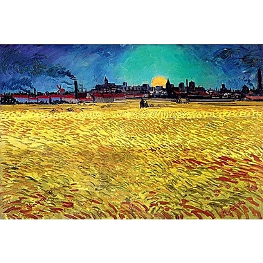 iCanvas 'Sommerabend' by Vincent Van Gogh Painting Print on Canvas; 18'' H x 26'' W x 0.75'' D