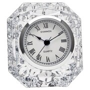 Godinger Silver Art Co Dublin Crystal Table Clock I