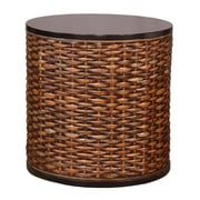 Jeffan Lina Round End Table; Dark Brown