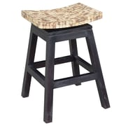 Jeffan Cordova 24'' Swivel Bar Stool; Natural Bliss