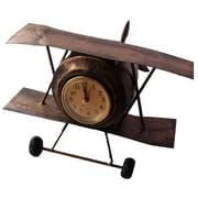 Creative Motion Retro Airplane Table Clock