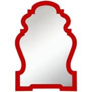 Cooper Classics Faith Wall Mirror; Glossy Red