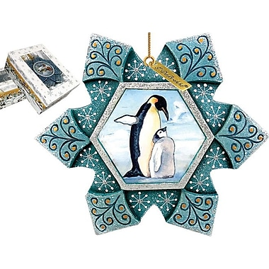 G Debrekht Penguin Snowflake Ornament